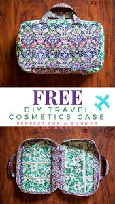 travel cosmetics case tutorial