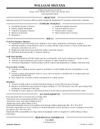 Resume Examples Police Officer Sample Customer Service Resume