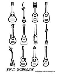 Drawn guitar musical instrument 8