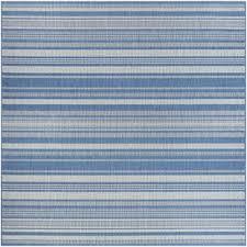 anguila stripe bluegray indooroutdoor area rug blue striped rug r57