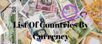 World Currency Chart Pdf List Of Currency Symbols With Country Name World