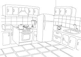 Small Picture Color Kitchen Free Coloring Pages for Preschooler and Kindergartener