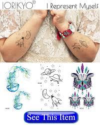 Iorikyo маленькие женщины геометрия мотылек временные татуировки хна цветок