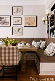 dining banquette quintessenceblog flickr banquette in kitchen with brown and cream fabrics toile amp buffalo ch