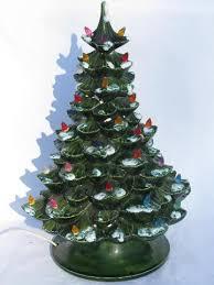Vintage Christmas Tree Ceramic Nowell 1977 Mold Lights Birds 9 Ceramic Tabletop Christmas Tree With Lights
