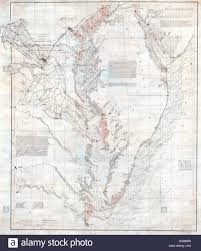 Chesapeake Bay Maps Charts 1855 U S Coast Survey Nautical Chart Or Map Of The