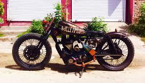 bulletproof war theme handmade motorcycle bobber motorcycles