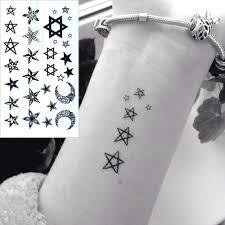 водостойкая временная татуировка наклейка маленькая звезда луна