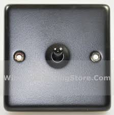 Matt Black 1 Gang Intermediate Toggle Light Switch G&H CFB285