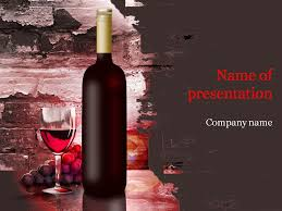 Wine Powerpoint Template Wine Template Under Fontanacountryinn Com