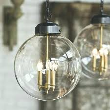 3 globe pendant light catchy glass clear industrial inside large west elm gallery of glo