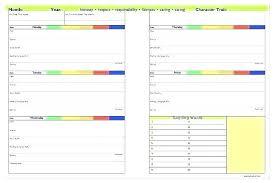 Homework Calendar Excel School Assignment Template