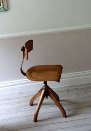 gray swivel office chair 75 vintage wooden. Vintage Bauhaus Oak Architects Desk Chair Gray Swivel Office Chair 75 Vintage Wooden