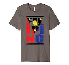cool bold filipino flag graphic t shirt pinoy tee