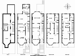 blueprint house plans new brownstone house plans in multi family townhouse for