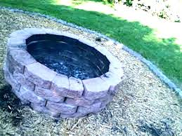 in ground fire pit prodigious diy gas