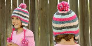 Earflap Hat Knitting Pattern Custom Knitted Striped Ear Flap Hat [FREE Knitting Pattern]