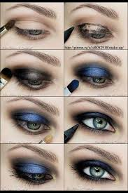 metallic blue navy blue smokey eyes i dont usually like blue eyeshadow but this is pretty i d like to try it in green this should be good for prom