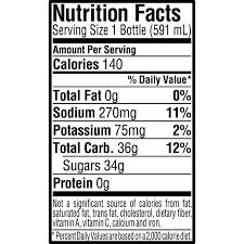 Green Apple Nutrition Chart Gatorade Fierce Green Apple 20 Ounce Bottles Pack Of 12