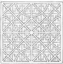 Easy Geometric Coloring Pages Pattern Geometric Coloring Page