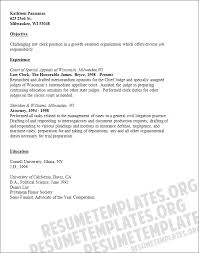 Court Clerk Resume Objective Examples
