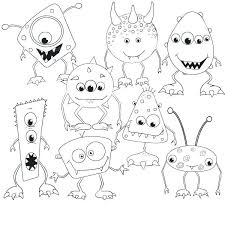 Cookie Monster Color Monsters Coloring Pages Cute Coloring Sheets