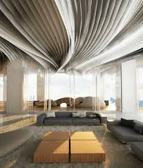 even fabric stripes could be used to decorate a ceiling