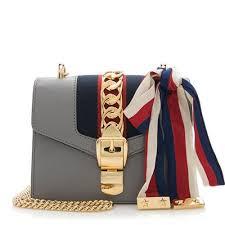 gucci purse. gucci leather sylvie mini chain bag purse