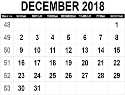 December Calendar Excel December 2018 Calendar Excel Printable Blank Template With Holidays