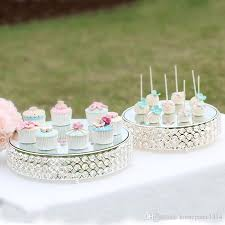 K9 Crystal Metal Cake Stand Cupcake Display Pan Candy Bar Table