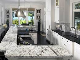 White Transtiional Kitchen With Elegant Marble Countertop Hgtv