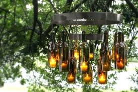 glass bottle chandelier diy liquor bottle chandelier transform your outdoor living space with this glass bottle