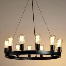 round wrought iron chandelier industrial vintage pillar