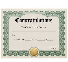 Congratulations Certificates Templates Free 20 Sample Congratulations Certificate In Pdf Word Psd