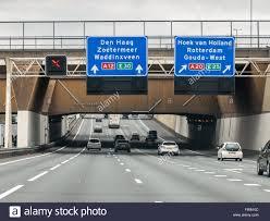Acquedotto Gouwe sull autostrada A12 - informazioni sul percorso a L'Aia e  Rotterdam nei Paesi Bassi Foto stock - Alamy