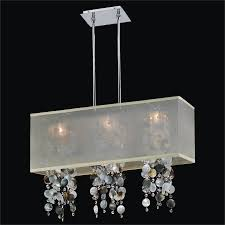 flush mount crystal chandelier. Mother Of Pearl Chandelier - Rectangular Shade | Omni 627P By GLOW Lighting Flush Mount Crystal