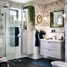 Badezimmer Einrichten Ikea Mit Vogel Tapete Badezimmerschrank Weiaen