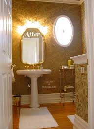 half bathrooms.  Bathrooms Half Guest Bathroom After With New Moldings And Tall Ceiling To Half Bathrooms