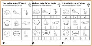 Children first make the word to simple worksheets where children circle the initial or final sound ch or sh for each picture. Find And Write The Sh Words Differentiated Worksheet Worksheet Pack