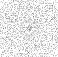 Moroccan Tile Islamic Art Coloring Page Culture Islami On Mandala