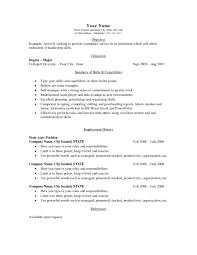 Examples Of Simple Resumes Professional Template Good Resume