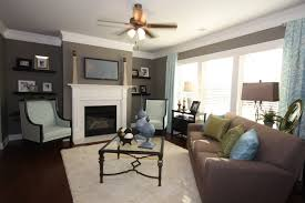 blue walls brown furniture. Blue Brown Grey Color Scheme In The Family Room Cottages At Walls Furniture W