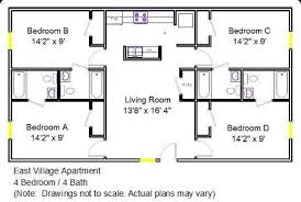 Inspiring 4 Bedroom 2 Bath House Floor Plans Images Best .