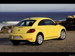 2012 Volkswagen Beetle Yellow - Rear | HD Wallpaper #97