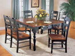 Distressed Black Kitchen Table Sedgefield Dining Table With Drawers And Extension Homelegance