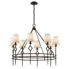maurice 8 light chandelier pompeii bronze