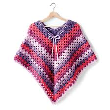 Yarnspirations Patterns Adorable Bernat Girl's Crochet Poncho Yarnspirations