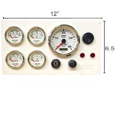 white lehman power diesel marine engine instrument panel white white lehman power diesel marine engine instrument panel white gauges