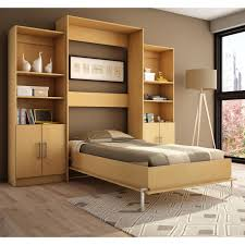 Modern Murphy Bed Inside A Small Bedroom
