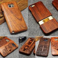 details about natural luxury wood phone bamboo pc case cover for samsung galaxy s10e s9 plus